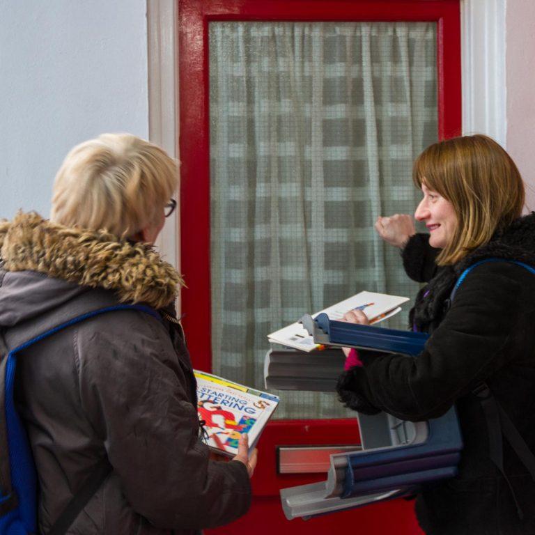 Volunteers doorknocking